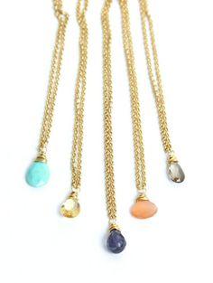 Simple Stone Necklaces - Bella Vita