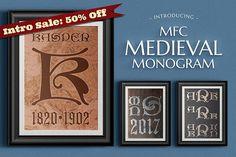 MFC Medieval Monogram by Monogram Fonts Co. on @creativemarket