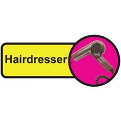 Hairdresser Dementia Sign, help people with dementia and sight problems by displaying these 'Hairdresser Dementia' signs around your premises, they assist in maintaining their independence, just peel off the backing strip and stick to your doors. Signs Of Dementia, Plastic Signs, Sign Materials, Types Of Doors, Sign Design, Adhesive Vinyl, Hairdresser, Helping People, Nursing Homes