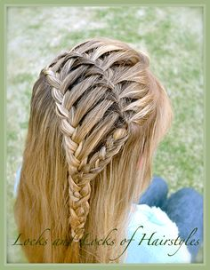 Locks and Locks of Hairstyles: Waterfalled Lace Braid
