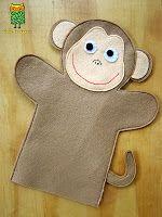 Títere de mano de mono