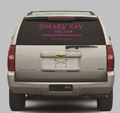 Customized Mary Kay Window Decal by AllAboutPinkBoutique on Etsy