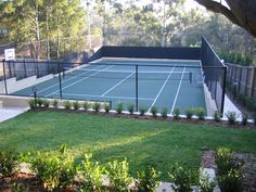 tennis court landscaping - Google Search