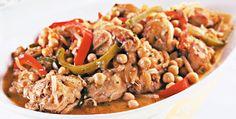 Ensopado de frango com grão-de-bico