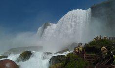 Niagara Falls bottom of American side..