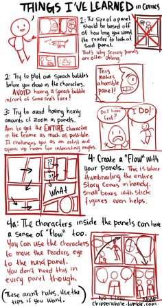 chipperwhale: Some things I've taught myself through out the years. I have not gone to college for art or comics, these are things I've learned by just trying to make comics by myself.