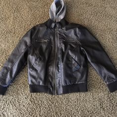 Leather coat Good condition zippers all work  good cond. no rips  !!! Sits in daughters closet !!! Ambiance Apparel Other