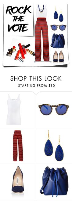 """ROCK THE VOTE 2016"" by erinparkerofficial ❤ liked on Polyvore featuring Vince, Illesteva, Sonia Rykiel, Panacea, Manolo Blahnik, Gabriella Rocha and Janna Conner"
