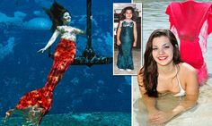 Woman, 19, fulfills childhood dream to become professional MERMAID