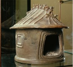 Cinerary urn shaped like a hut, 800 BCE, Vatican Museums.