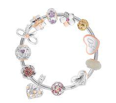 Welsh Clogau Silver /& Rose Gold Celebration Beaded Bracelet 17-19cm £55 off!