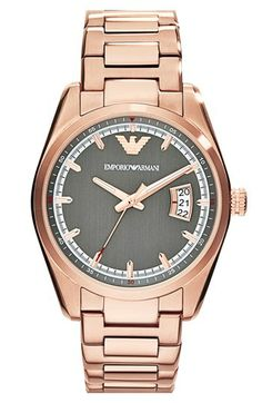 Emporio Armani Round Bracelet Watch, 39mm available at #Nordstrom