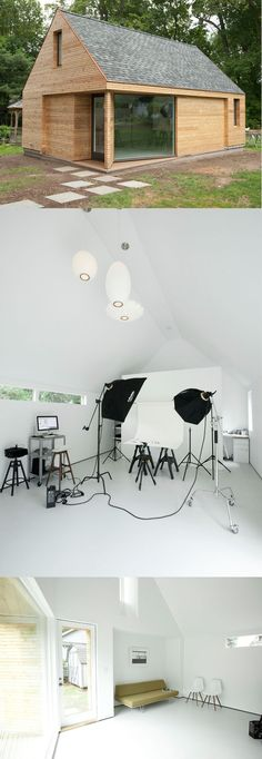 Photo studio in your backyard : ) - I would like to make it a pottery studio. Heck it is big enough to be a fully functioning house!
