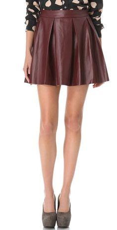 ONE by Vegan Imitation Leather Skirt #oxblood #red #black #skirt #trend #fashion #buy @Shopbop