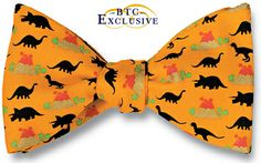 dino bow tie! LOVE iIT                                   http://www.bowtieclub.com/product/1173/new_bow_ties