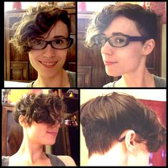 My naturally curly long pixie cut (with a little bit of an undercut).