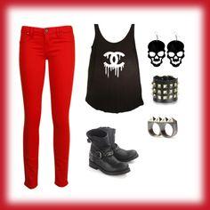 """Punk/Rocker Outfit"" by skylarw444 on Polyvore"