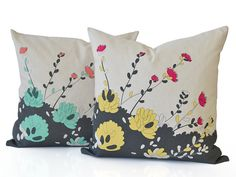 White Pear Designs Jellybeen Cushion - Loving hand drawn and then hand screen printed, they come complete with duck down inserts Duck Down, Jelly Beans, Cushion Covers, A Team, Screen Printing, Two By Two, How To Draw Hands, Vibrant, Cushions
