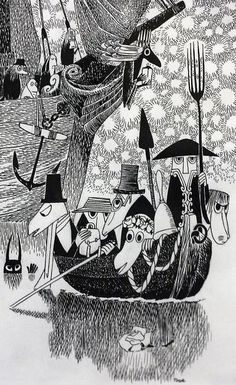Hunting of the snark (Lewis Carrol) by Tove Jansson