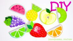 7 DIY Fruit Notebooks – How To Make Fruits Notebooks (tutorial) This YouTube Video is awesome!