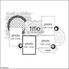 cool layout with circles #scrapbooking #layout #sketch