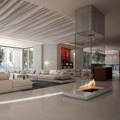 Dream House Interior, Luxury Homes Dream Houses, Dream Home Design, Modern House Design, Modern Interior Design, Luxury Interior, Interior Design Living Room, Living Room Designs, Interior Decorating
