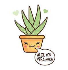 OFF Kawaii clip art Valentine clipart kawaii cactus Succulents Drawing, Cactus Drawing, Kawaii Drawings, Easy Drawings, Cactus Clipart, Funny Food Puns, Images Kawaii, Love Puns, Pun Card