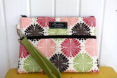 Padded Apple iPad Pouch Bag Wristlet Flower Works by ElisaLou, $38.00