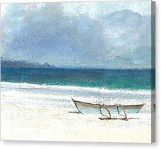 Beach Thalassa Canvas Print by Lincoln Seligman