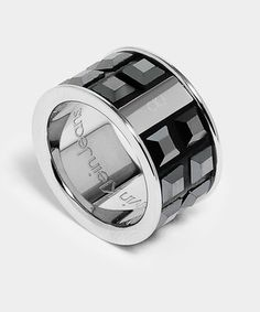calvin klein ring - steel + swarowski glint