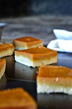 Pumpkin Bars with a Bacon Fat Shortbread Crust