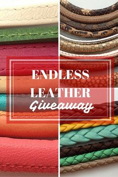 Gorgeous leather giveaway on the The Beading Gem