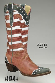 The Woman would definitely wear these! Cowboy Western Boots American Flag