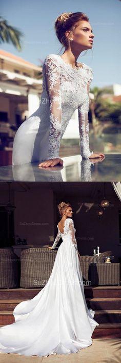 Elegant Wedding Dress with Detachable Court Train