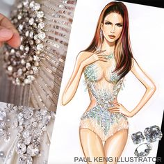 JLo Costumes | Design & Illustration by Paul Keng