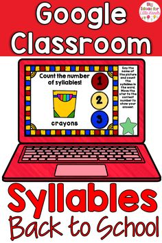 This is a fun & interactive digital activity to get your students engaged in practicing counting syllables using Google Slides? This fun, paperless, no prep game is great practice for counting on! No worksheet needed! Great for Distance Learning with Preschool, Kindergarten, 1st, & 2nd Grade Elementary kids using Google Classrooms! Each card will have a fun Back to School theme is filled with crayons, books, pencils & more. Great to use in a technology or word work center!