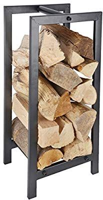 Fallen Fruits Metal Wood Log Storage Carrier Stove Fireside Accessory Log Store Log Holder Rack by I Go Direct Firewood Logs, Firewood Rack, Firewood Storage, Indoor Log Storage, Fireplace Glass Doors, Fireplace Ideas, Slate Hearth, Wood Burning Fire Pit, Fire Wood