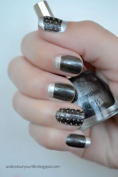 Rock style my-nail-art-work How To Do Nails, Fun Nails, Pretty Nails, Rock Style, Rock Star Nails, Rock And Roll, Jolie Nail Art, Mode Rock, Metal Fan