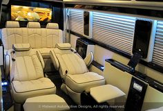 The business class luxury Mercedes Sprinter Van is designed to be the perfect mobile office van for business executives. Mercedes Sprinter, Mercedes Benz Vans, Sprinter Van, Design Autos, Rv Floor Plans, Office Floor Plan, Luxury Van, Luxury Motorhomes, Compact Table And Chairs