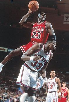 MJ dunk over Ewing; because I have hated Patrick Ewing since 84 final four!