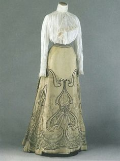 Image result for fan skirt 1900s