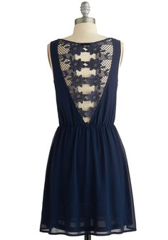 Trellis About It Dress. this is the back view. the front is a modest scoop neck.