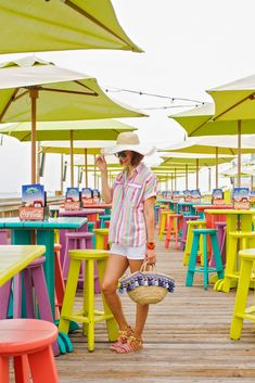 Wear + Where + Well : J.Crew candy stripe collection in Key West, Florida