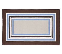 Tailored Striped Rug - Blue/Brown #pbkids