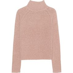 360 SWEATER Anat Bronze // Fine knit pullover (€349) ❤ liked on Polyvore featuring tops, sweaters, turtleneck crop top, cropped turtleneck sweater, short-sleeve turtleneck sweaters, pink turtleneck sweater and cropped sweater