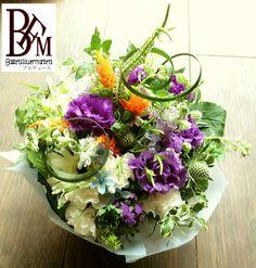 花ギフトのプレゼント【BFM】 紫にちょこっとオレンジを そんなフラワーアレンジメント