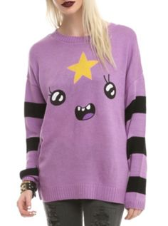 Adventure Time Lumpy Space Princess Girls  Sweater I want this one 2 :)))