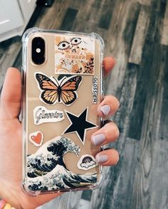 Cute Vsco Iphone case with stickers - phone case inspo - Phone cases - Phonecases Tumblr Phone Case, Diy Phone Case, Cute Phone Cases, Cellphone Case, Cases Iphone 6, Iphone 8 Plus, Iphone 7, Vsco, Iphone Apple Watch