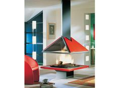 Open central fireplace AMILIA 996 - JC Bordelet Industries