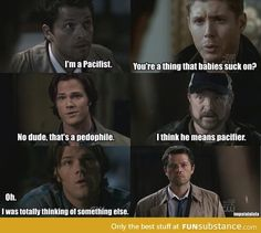 Oh my lord I can't stop laughing xD Supernatural... What more can I say :))